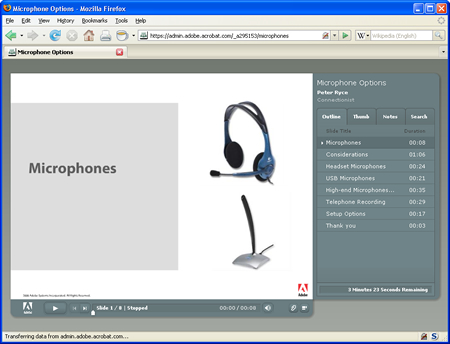 Adobe Presenter Content Example