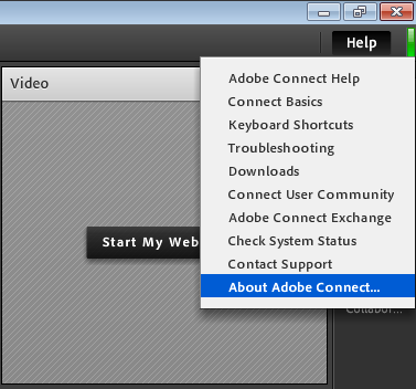 Find an Adobe Connect Meeting connection string.